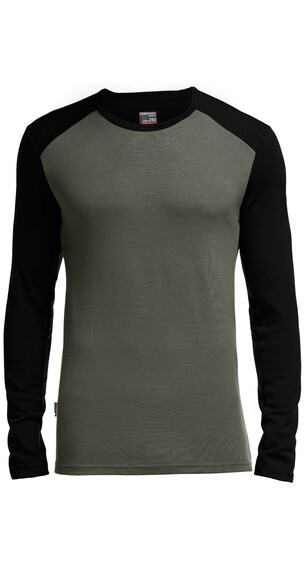 Icebreaker Tech Top LS Crewe Men monsoon/black/black
